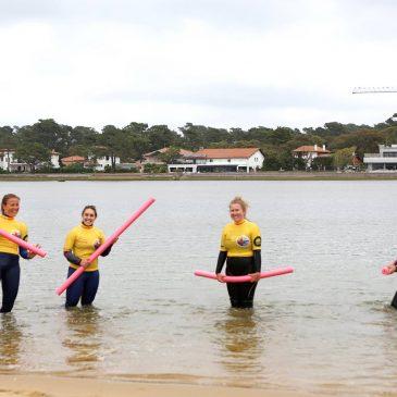 Premier cours d'Aquagym en mer !