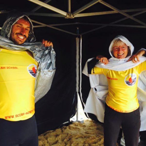 Nos super moniteurs avec le smile malgré la pluie !